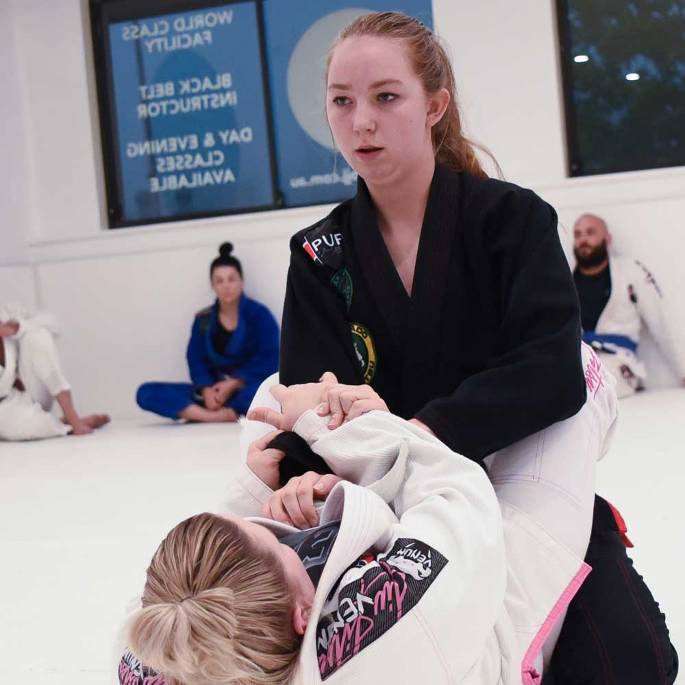 female jiu jitsu training southern highlands